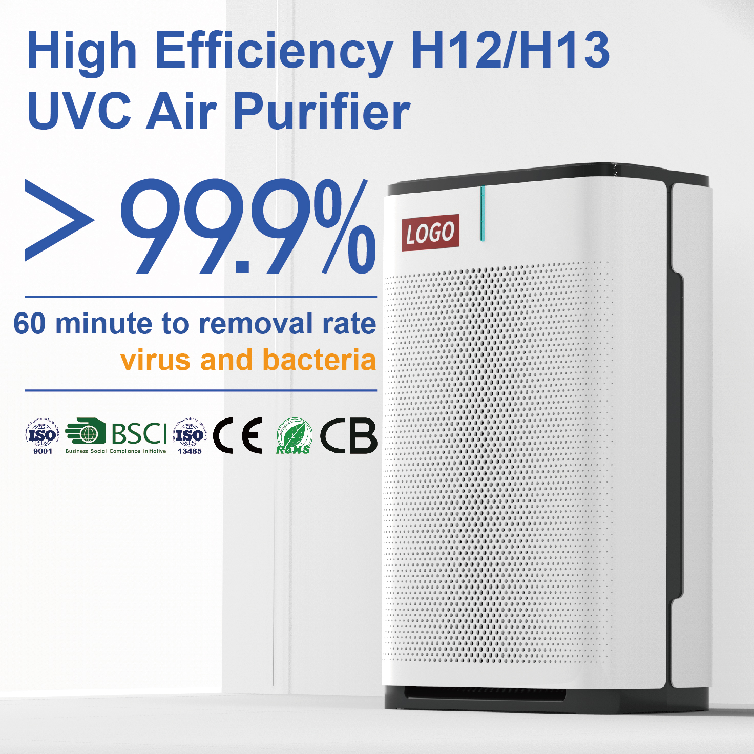 Ultraviolet filter with uv light plasma ionizer uvc air purifier for dust removal  Y24A